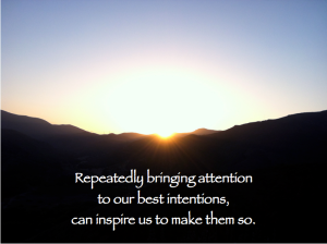 Attention on Intentions for Living Well Pages